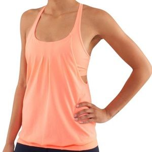 orange lululemon racerback tank size 4